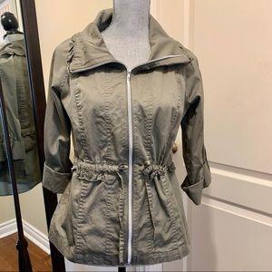 Sandro olive green zippered jacket/blazer/shirt